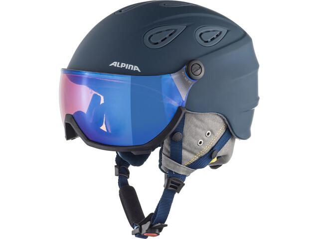 Alpina Grap Visor 2.0 HM Casque de ski, ink-grey matt